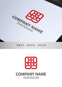 火炎焱字体纺织针织类标志设计
