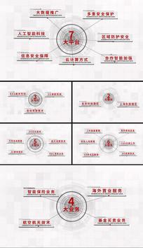 科技简洁分类字幕架构展示AE模板