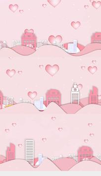 浪漫七夕情人节歌曲舞台背景视频素材