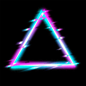 霓虹故障三角形边框