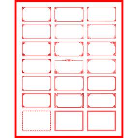 中国风边框欧式花纹红色相框画框花边框