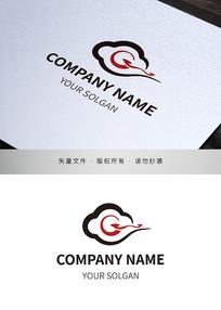字母G祥云文化产业标志设计