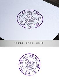 自由搏击道馆跆拳击类标识logo设计
