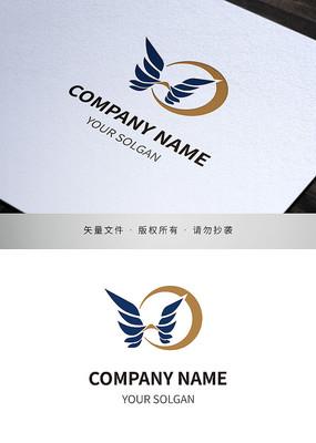 翅膀元素品牌标志设计