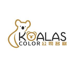 大气简洁国际化考拉logo设计