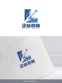 简洁星球创意网络科技logo