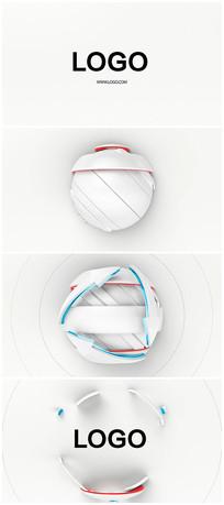 科技简洁文字logo演绎片头视频模板