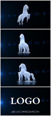 马沙化演绎logo视频模板