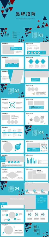 品牌招商方案项目PPT模板