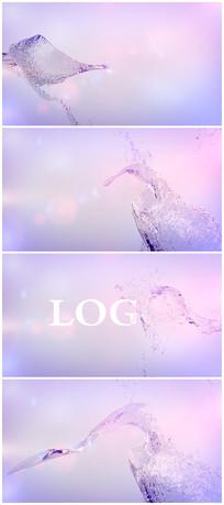 水花汇聚logo演绎AE模板