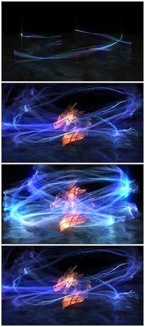 唯美粒子logo视频模板