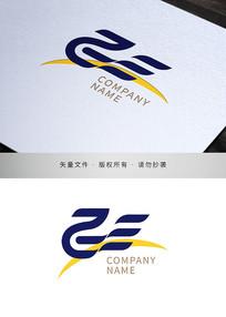 文字飞元素品牌标志设计