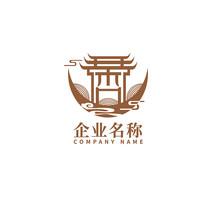 新中式禅意建筑logo