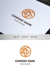 圆形藤蔓窗格品牌标志设计