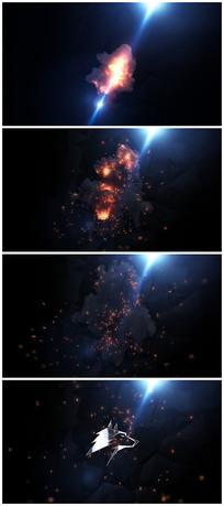 震撼粒子logo视频模板