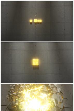 震撼破墙logo视频模板