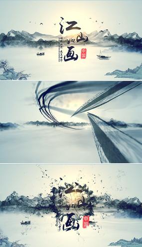 中国风水墨山水片头视频模板