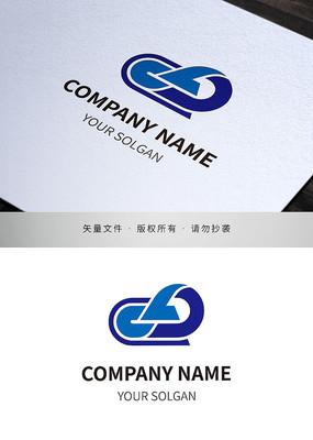 字母CLD云状品牌标志设计