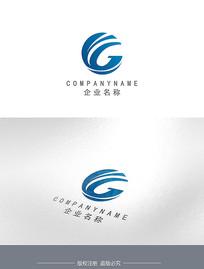 字母G海浪圆形企业LOGO