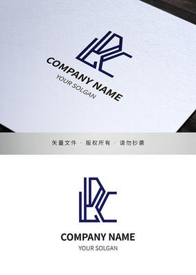 字母LDC极简线条品牌标志设计