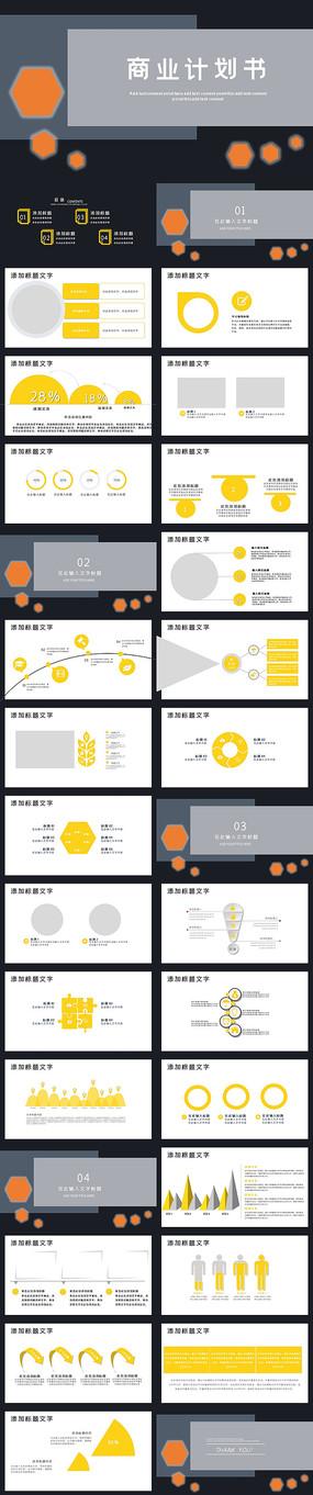 高端大气创业融资商业计划书ppt模板