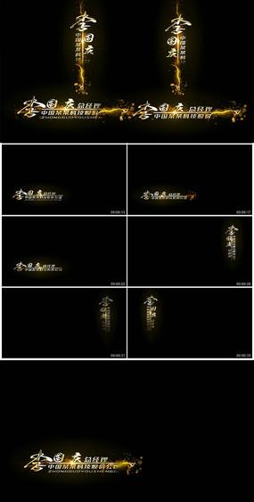 简洁金色粒子演绎字幕条视频模板