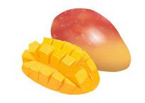 原创手绘插画水果蔬菜芒果元素
