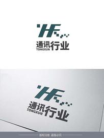 字母类通信logo