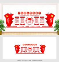 共筑中国梦党建文化墙设计