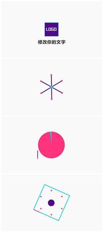 简洁卡通logo视频模板