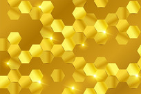 金色蜂窝背景