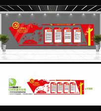 中国梦党建文化背景墙