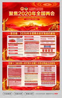 2020全国两会政府工作报告宣传展板