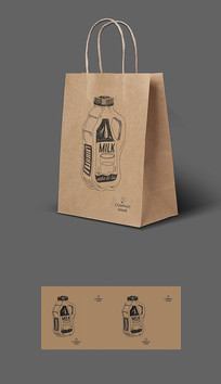 出口牛奶牛皮纸袋包装