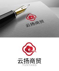 红色商务贸易logo