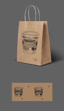 影院开业饮料牛皮纸袋包装