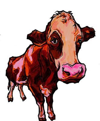 牛插画手绘稿