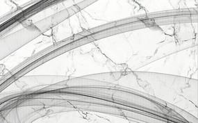 現代簡約抽象線條煙霧畫大理石紋背景墻