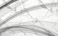 现代简约抽象线条烟雾画大理石纹背景墙