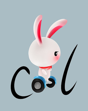 原创可爱卡通动物宠物酷酷兔