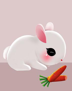 原创可爱卡通动物宠物兔子