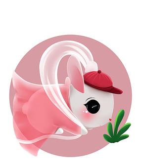 原创可爱卡通动物仙兔