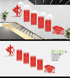 党建楼梯间文化墙设计