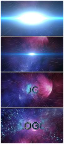 震撼宇宙穿梭粒子logo视频模板