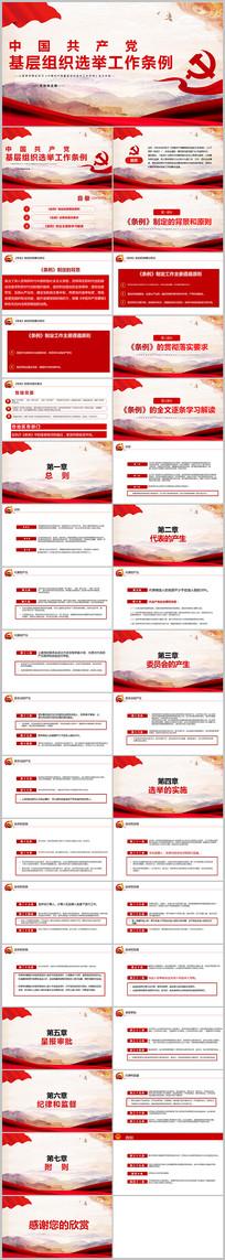 2020党建党政支部基层组织选举工作条例PPT