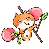 小猫摘桃子