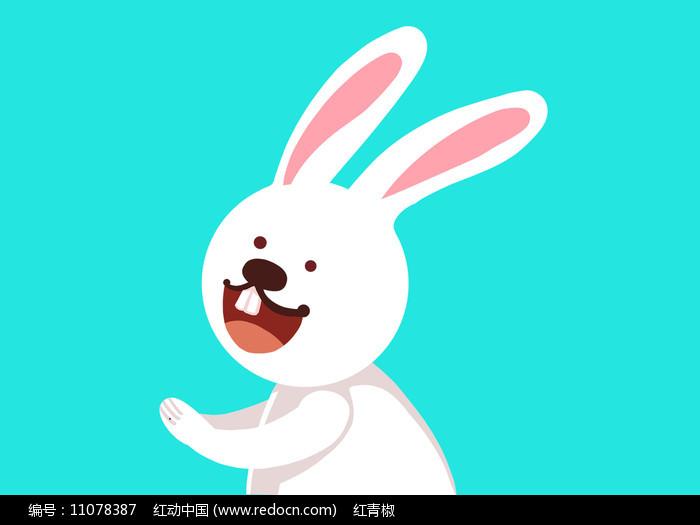 原创手绘插画卡通动物兔子素材PSD