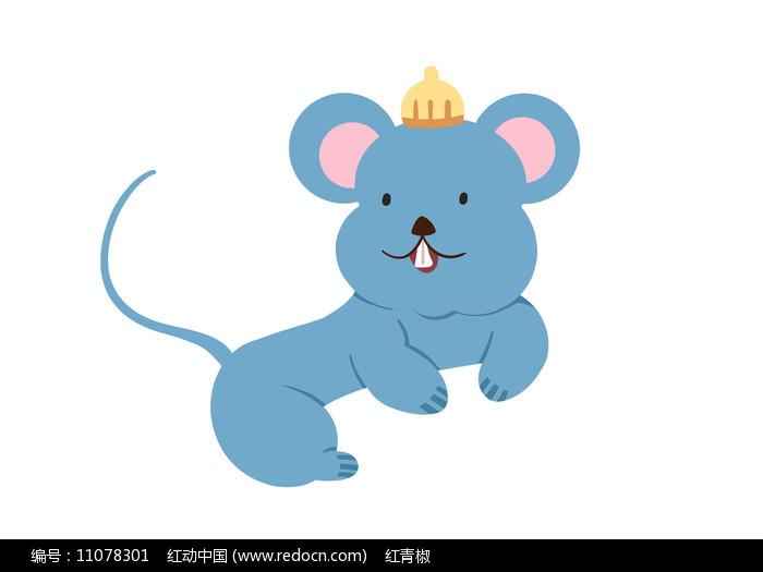 原创手绘插画卡通动物小老鼠素材PSD