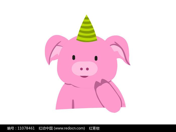 原创手绘插画卡通动物小猪素材PSD