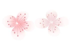 原创手绘植物小清新唯美樱花花瓣素材PSD